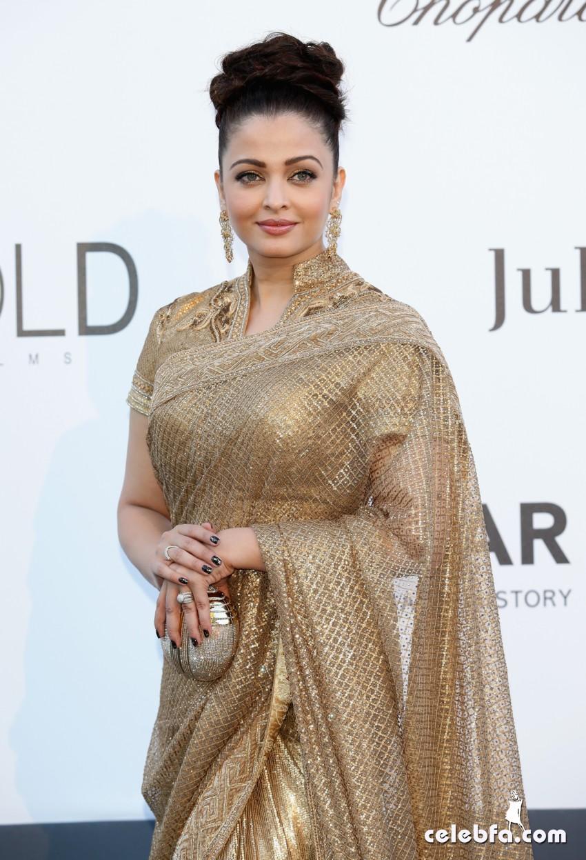 Aishwarya Rai - amfAR-CelebFa (1)