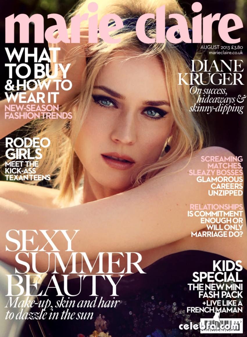 Diane Kruger- Marie Claire UK August 2013-CelebFa (1)