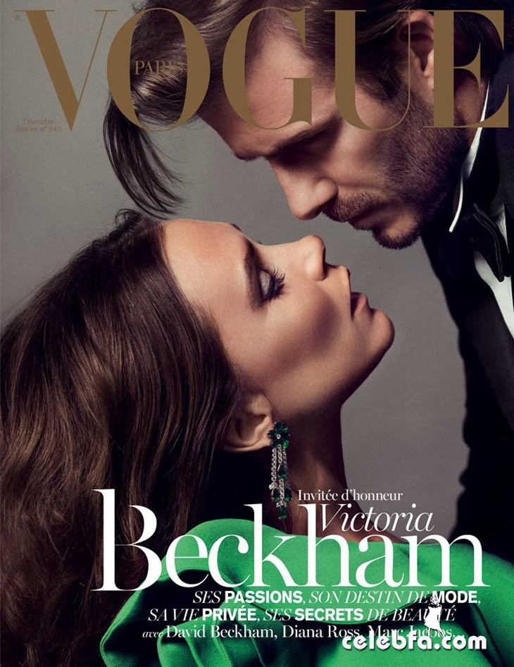Victoria & David Beckham-Vogue France January 2014 Cover_CelebFa (1)