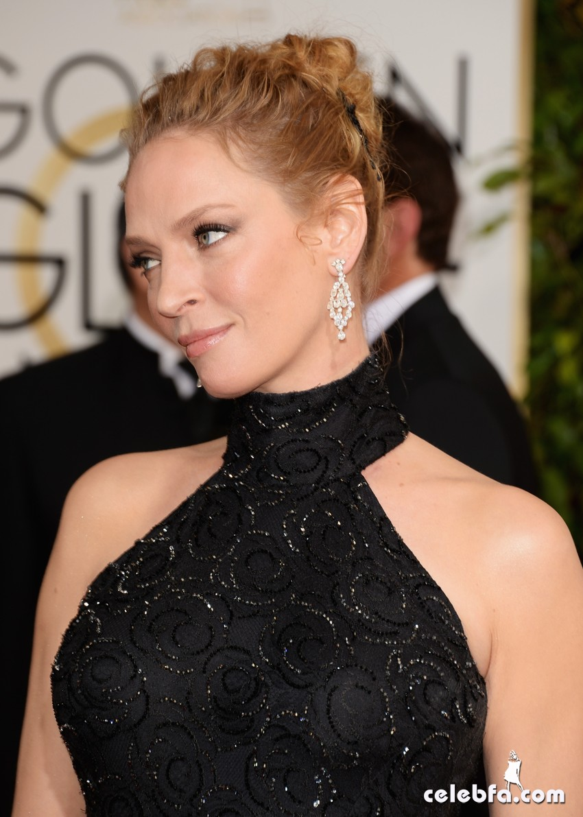 Uma Thurman - Golden Globe 2014-CelebFa (1)