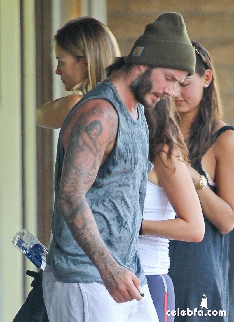 David Beckham wraps up another sweaty workout