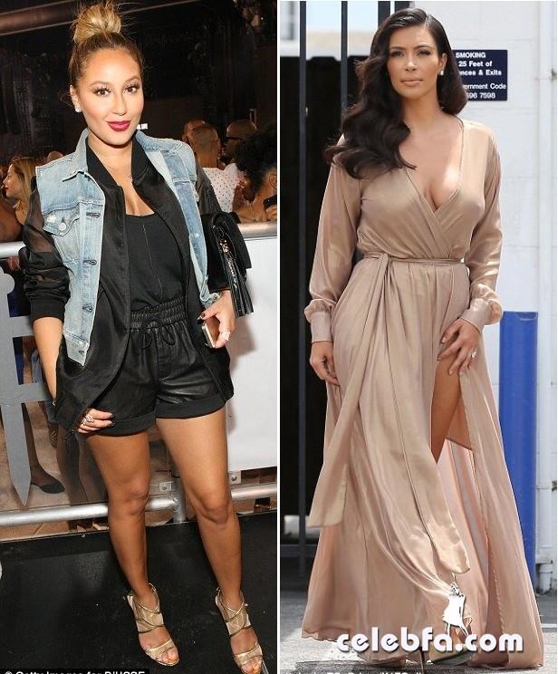 Kim-Kardashian-lashes-Adrienne-Bailon (1)