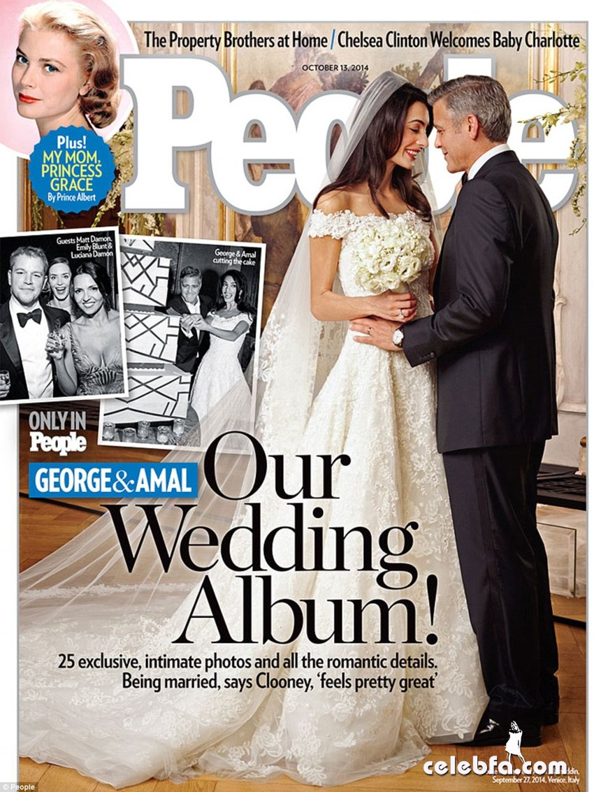 George Clooney & Amal Alamuddin's Wedding Photo (1)