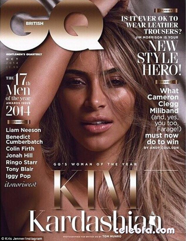 Kim Kardashian topless for Britain's GQ magazine (1)