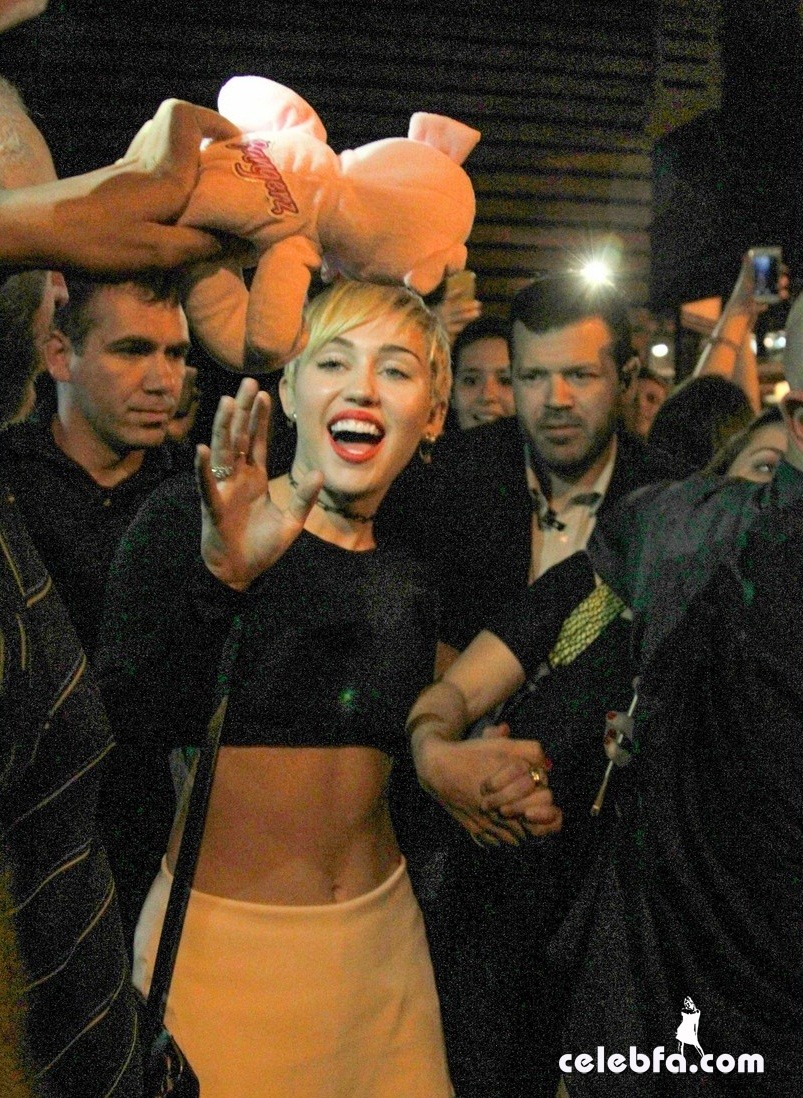 *EXCLUSIVE* Miley Cyrus goes for sushi in Rio