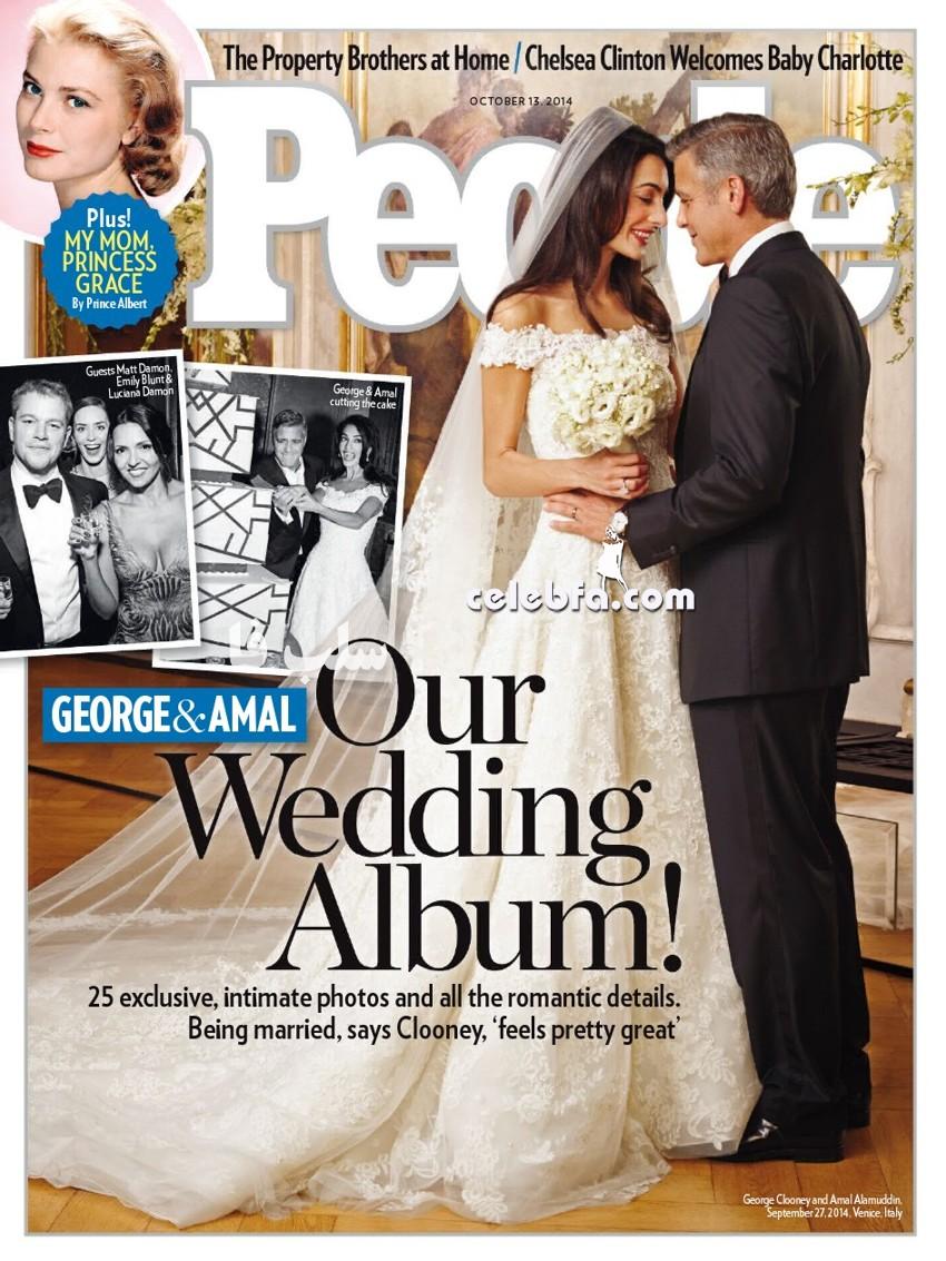عکس عروسی جرج کلونی (1)