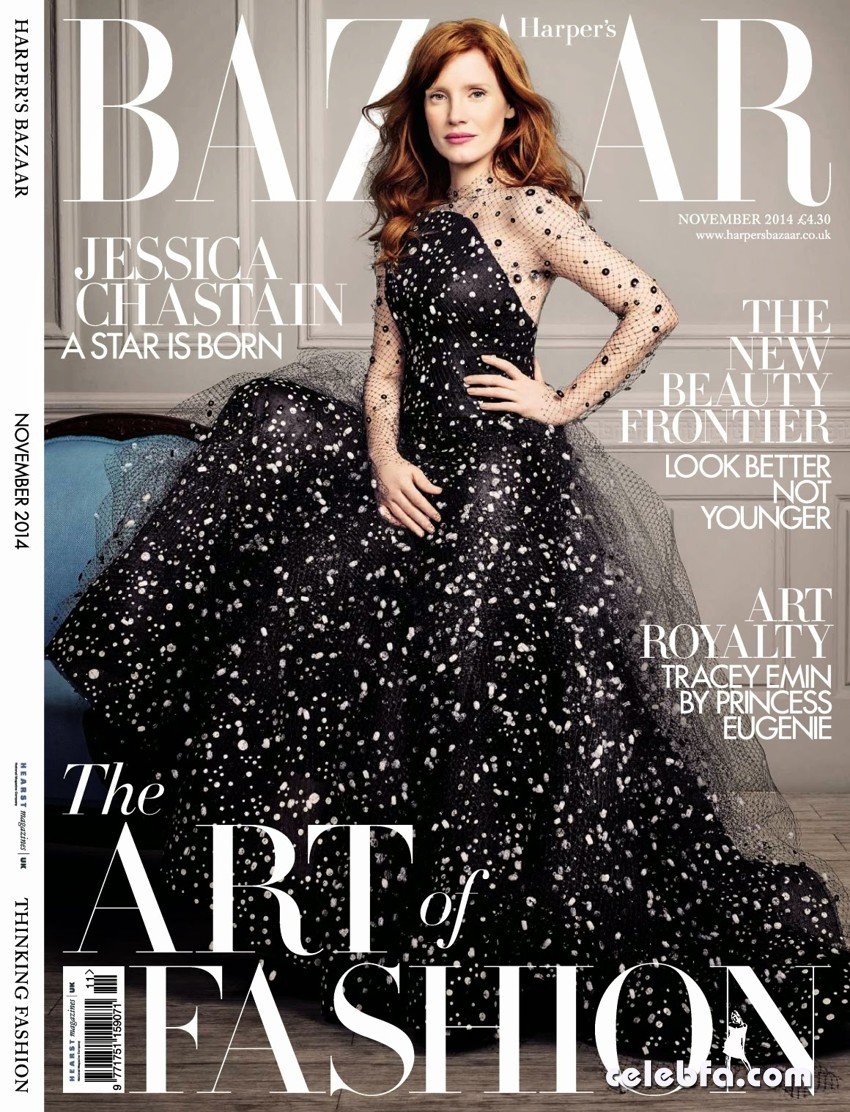 Jessica Chastain UK Harper's Bazaar November 2014 (1)