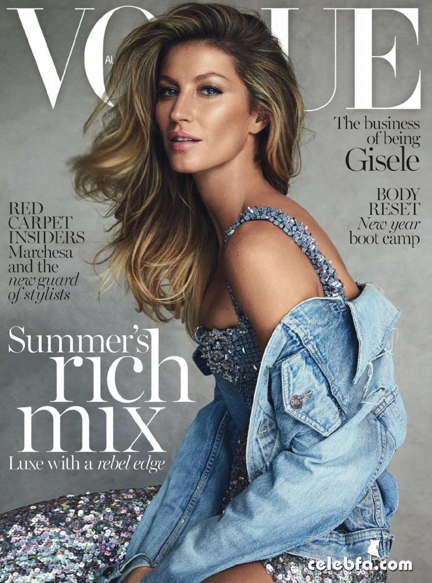 فتوشوت های ژیزل بوندشن برای مجله Vogue استرالیا شماره ژانویه 2015