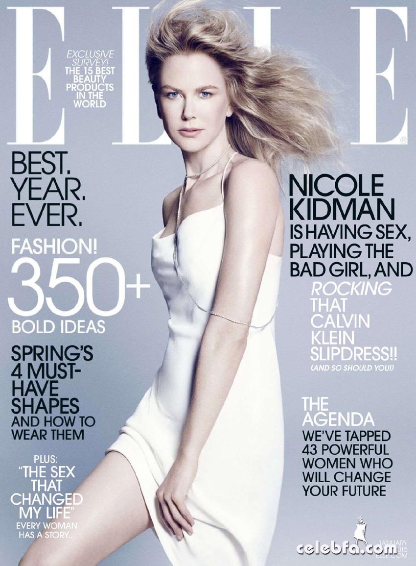 Nicole Kidman US Elle January 2015  (1)