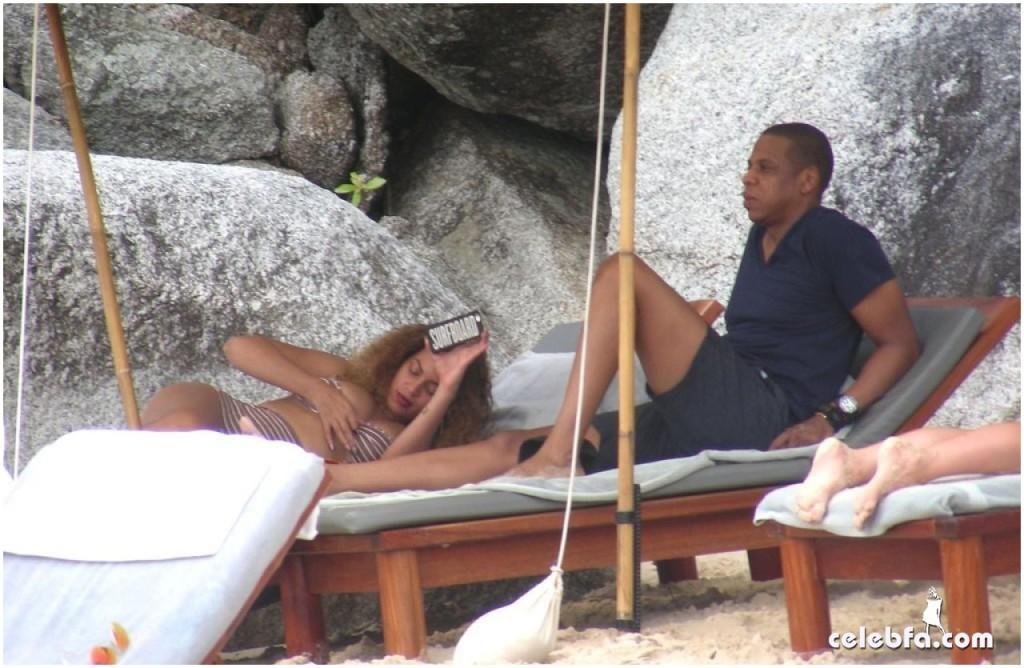 عکس های بیانسه و شوهرش جی زی در تعطیلات سال نو میلادی سواحل تایلند