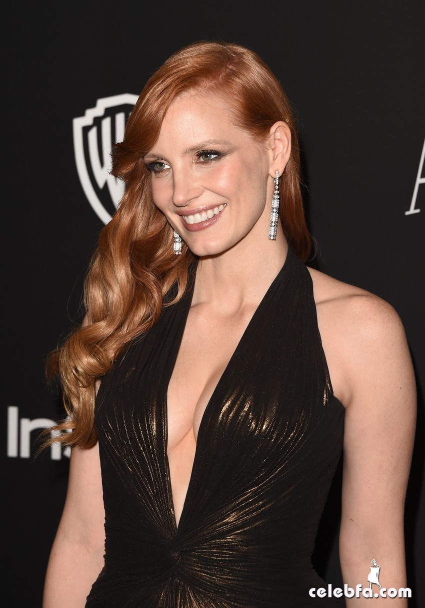 Jessica Chastain - 2015 InStyle And Warner Bros. Golden Globe (1)