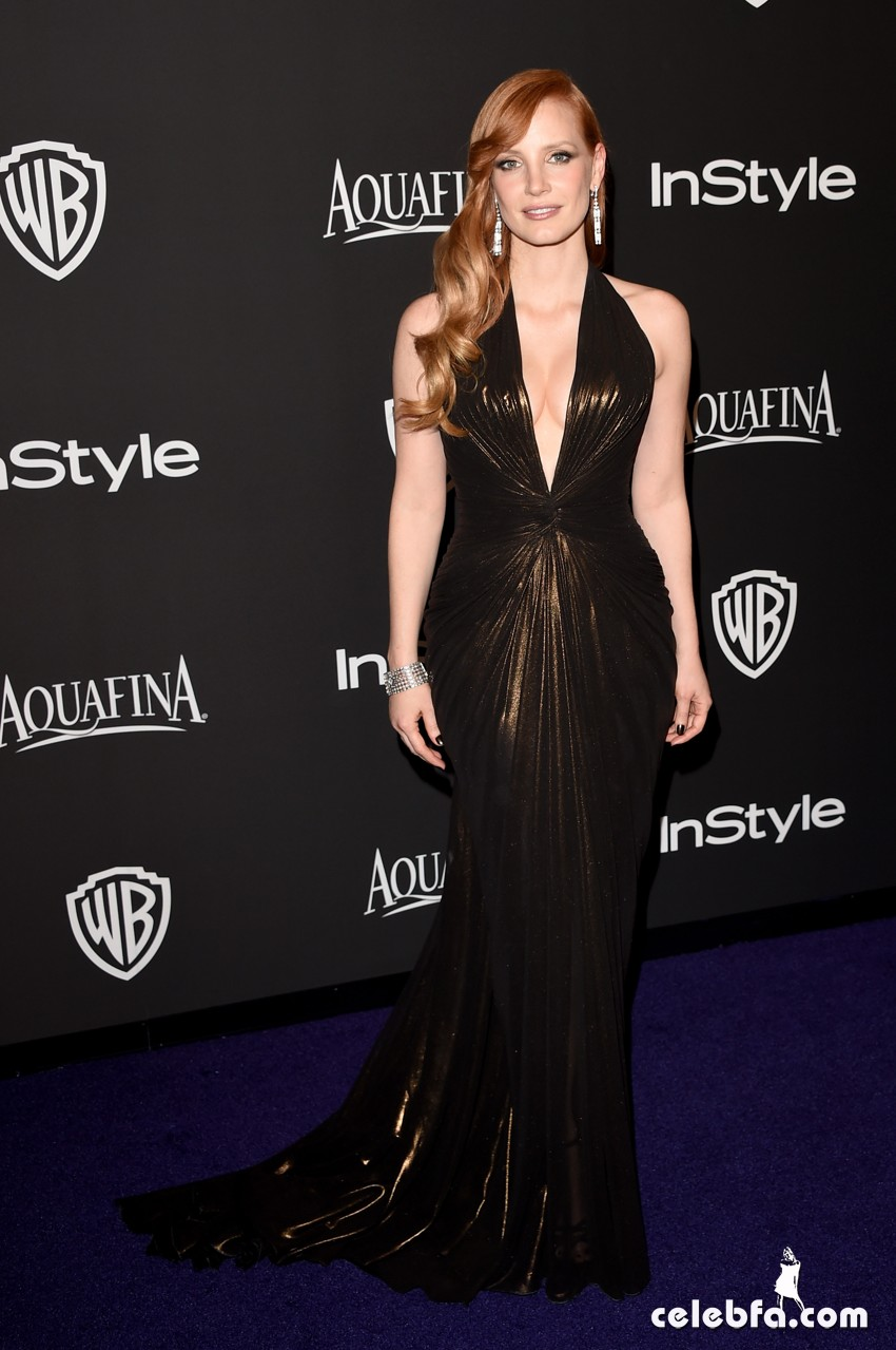 Jessica Chastain - 2015 InStyle And Warner Bros. Golden Globe (2)