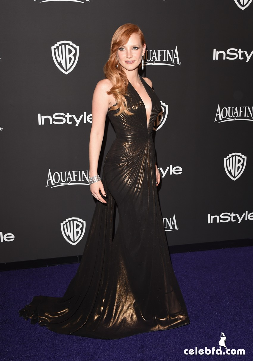 Jessica Chastain - 2015 InStyle And Warner Bros. Golden Globe (3)