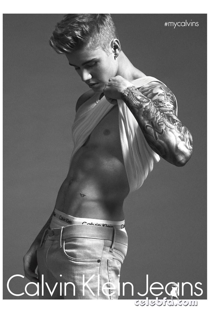 Lara-Stone-Justin-Bieber-Calvin-Klein-Jeans-Spring-2015 (6)