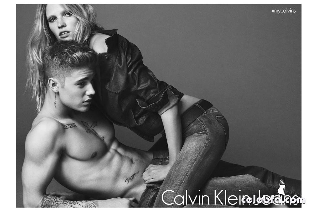 Lara-Stone-Justin-Bieber-Calvin-Klein-Jeans-Spring-2015 (8)