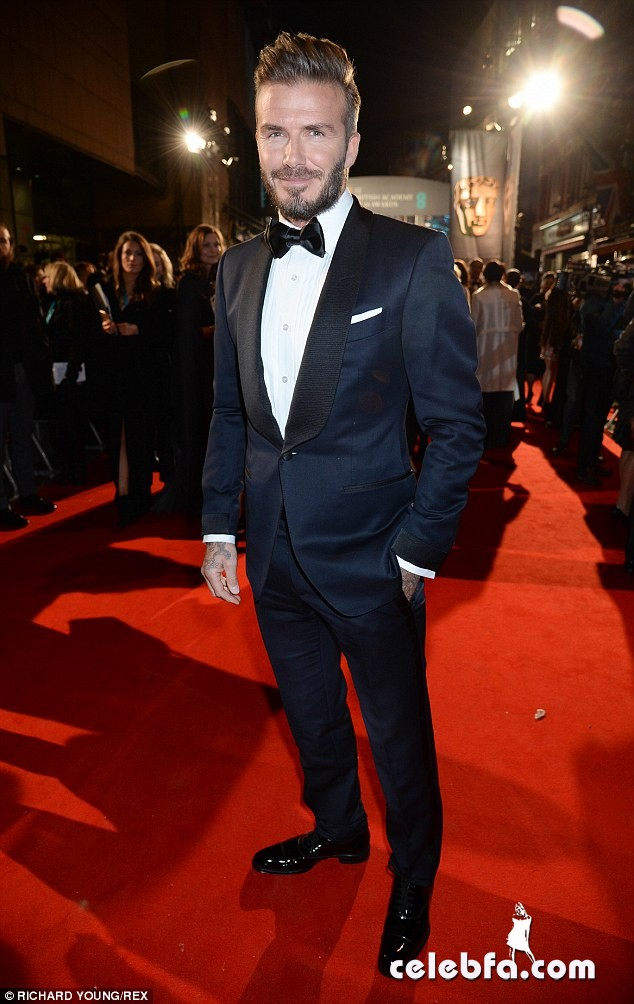 David Beckham - 2015 BAFTA  (1)
