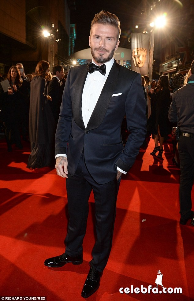 David Beckham - 2015 BAFTA  (2)