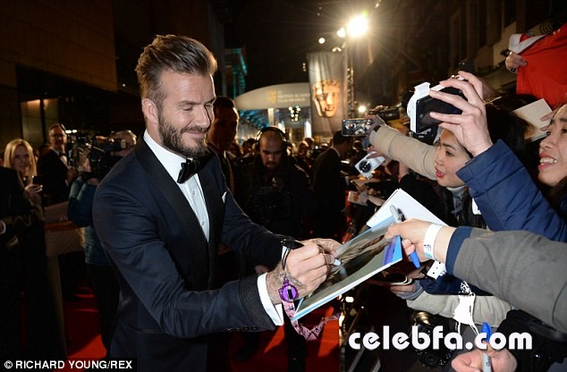 David Beckham - 2015 BAFTA  (3)