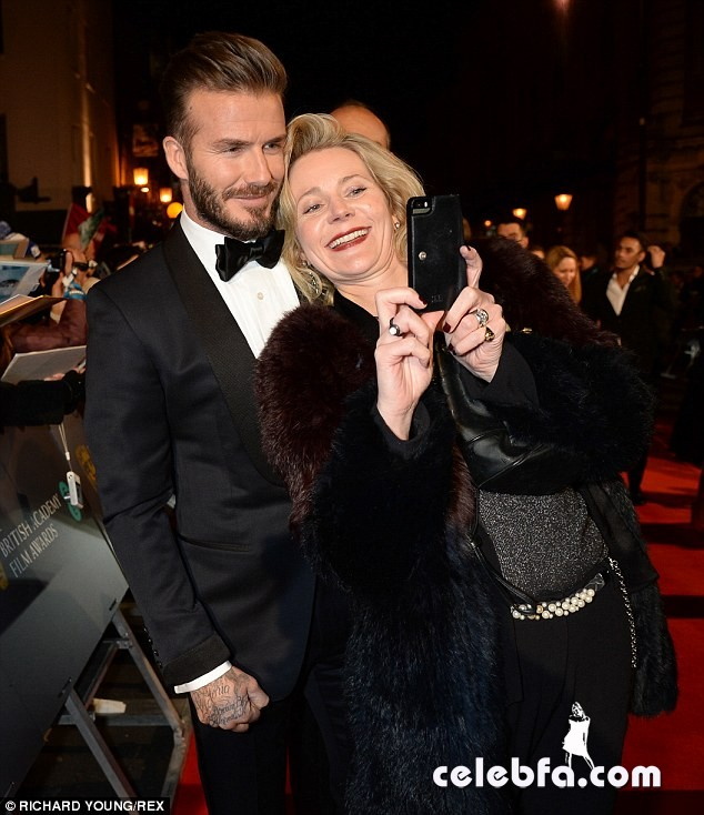 David Beckham - 2015 BAFTA  (7)