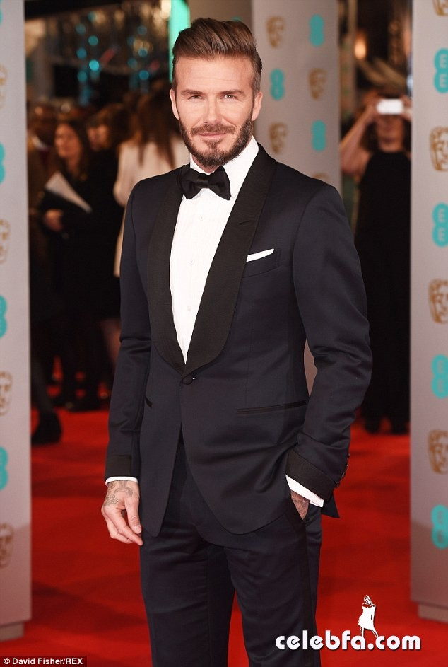 David Beckham - 2015 BAFTA  (8)