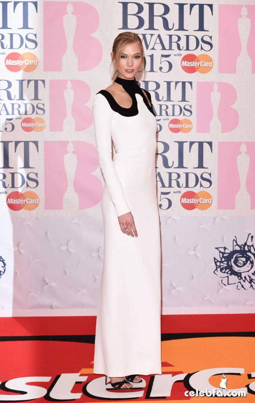 karlie-kloss-at-brit-awards-2015-in-london (2)