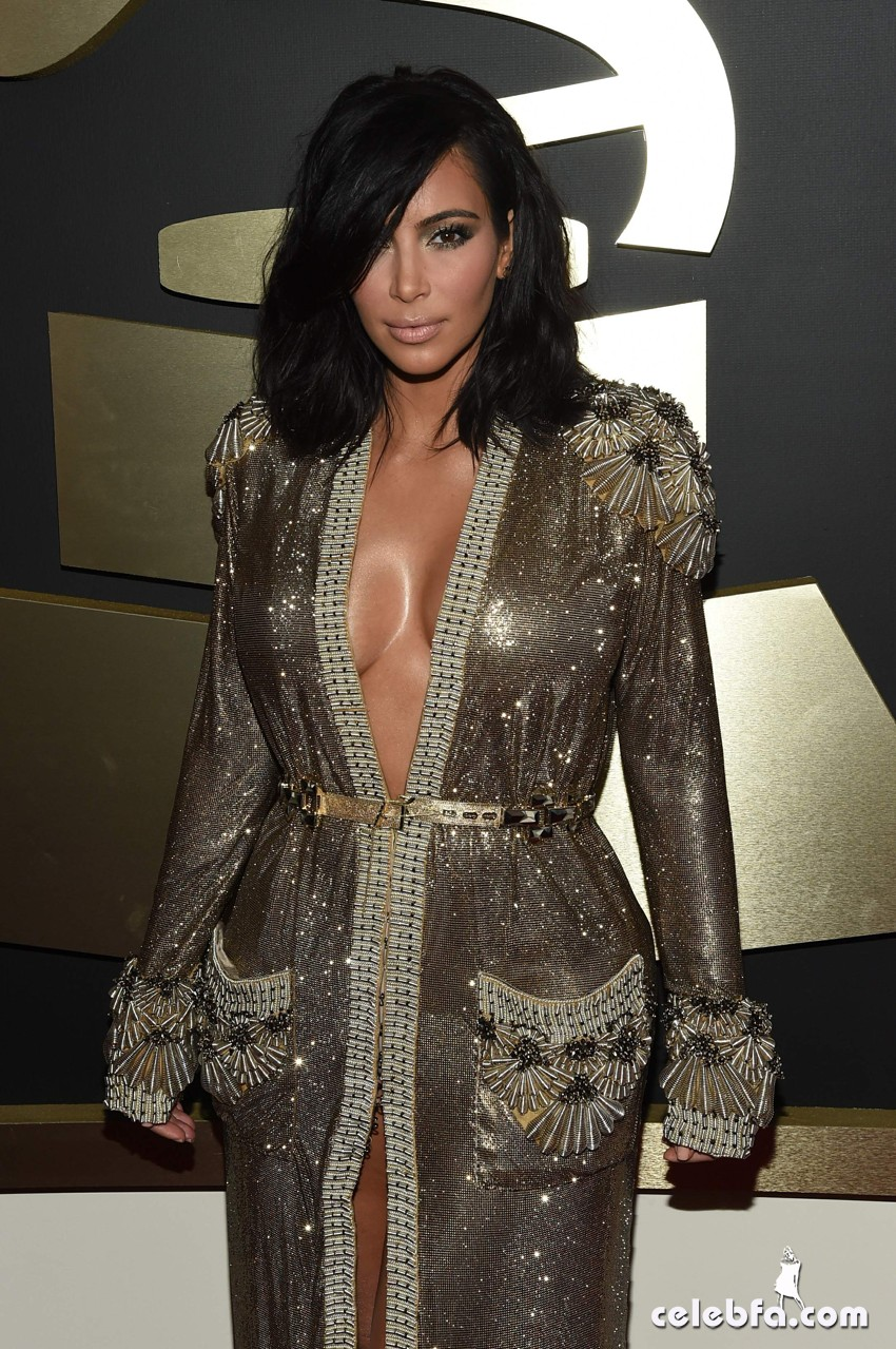 Kim Kardashian 57th Annual GRAMMY Awards (1)