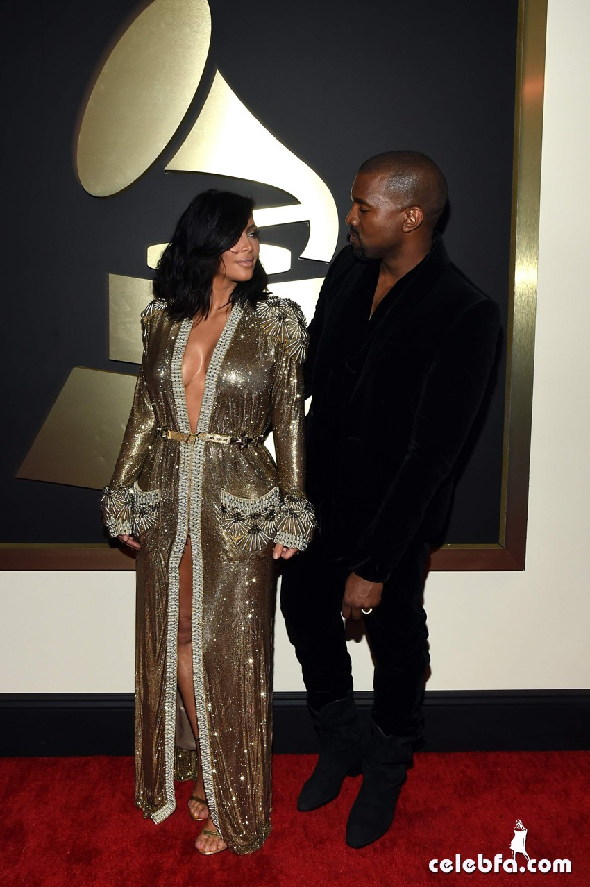 Kim Kardashian 57th Annual GRAMMY Awards (10)