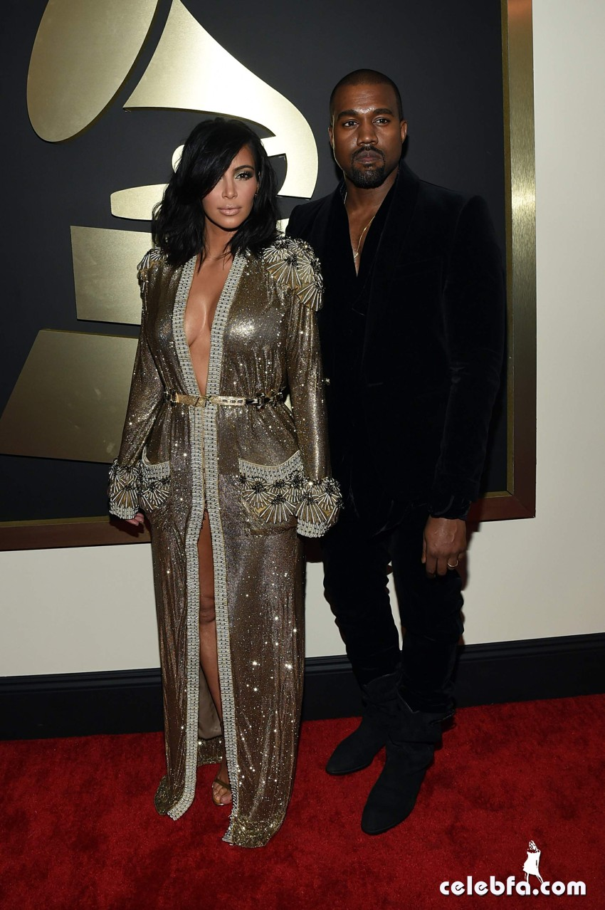 Kim Kardashian 57th Annual GRAMMY Awards (2)