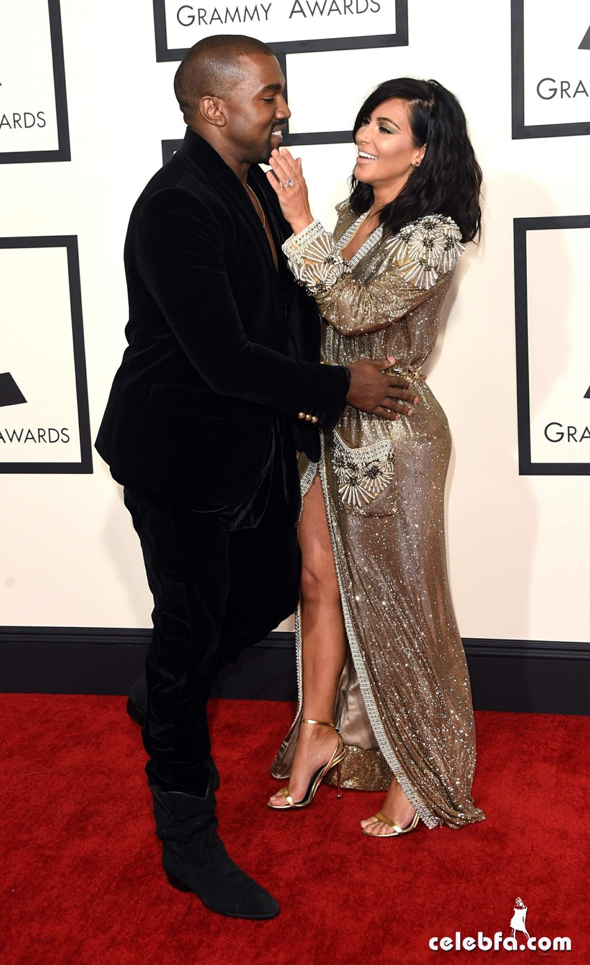 Kim Kardashian 57th Annual GRAMMY Awards (4)