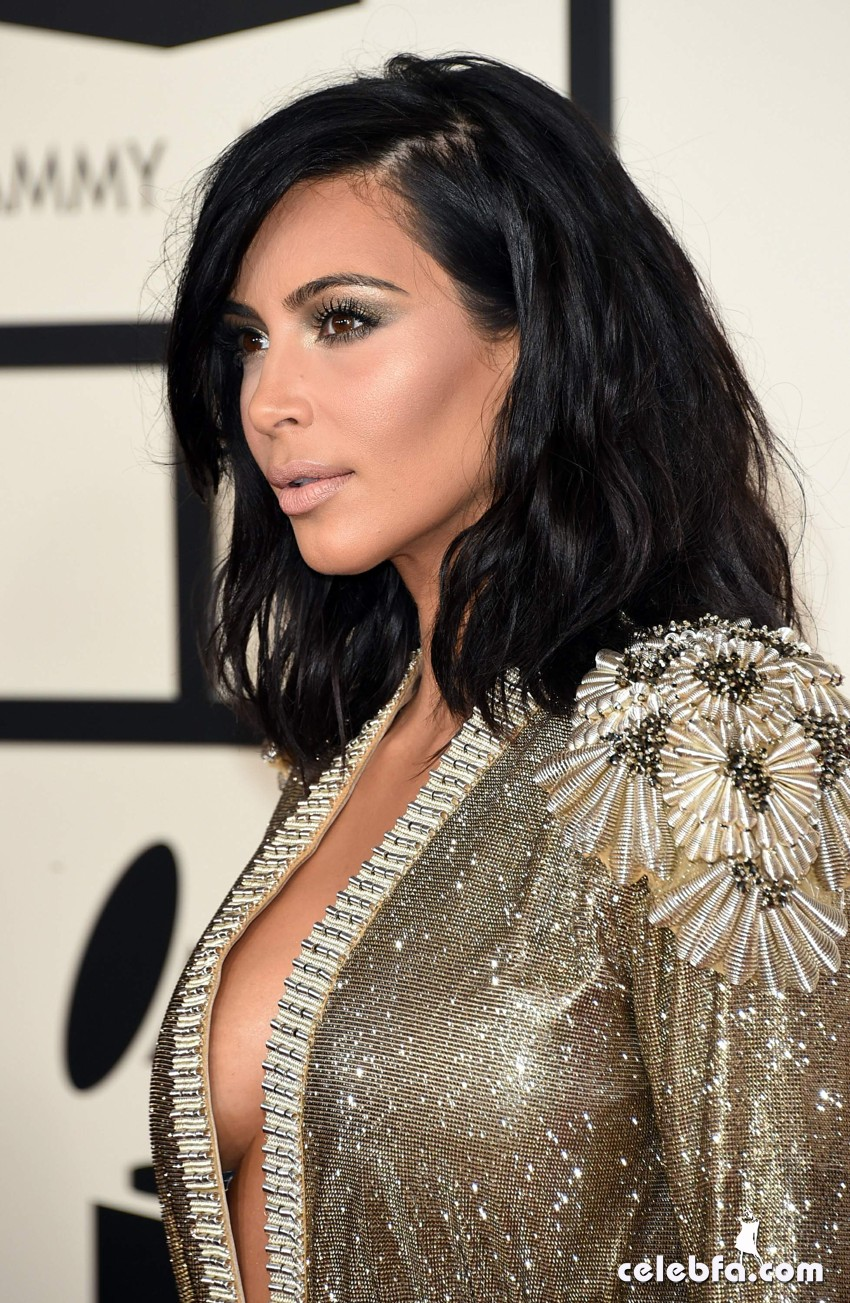 Kim Kardashian 57th Annual GRAMMY Awards (6)