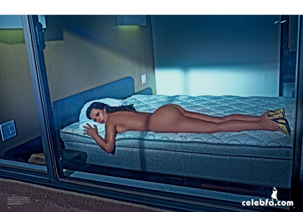 Kim Kardashian Nude 'LOVE' Magazine Shoot (11)
