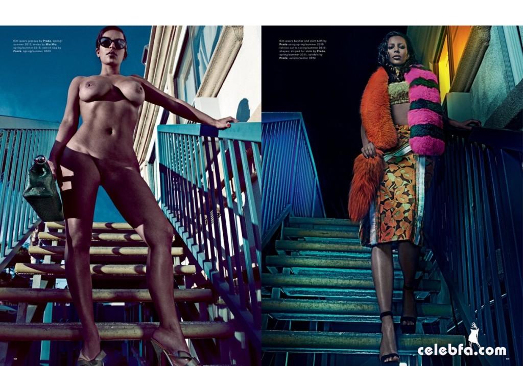 عکس های سکسی و کاملا لختی کیم کارداشیان برای مجله Love Magazine