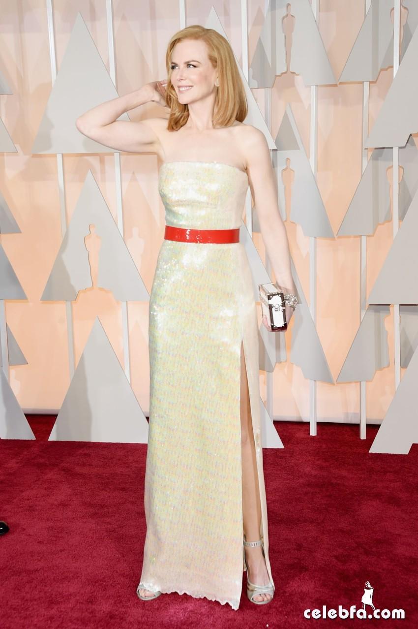 عکس های نیکول کیدمن بر فرش قرمز مراسم اهدا جوایز اسکار 2015 Oscars Red Carpet