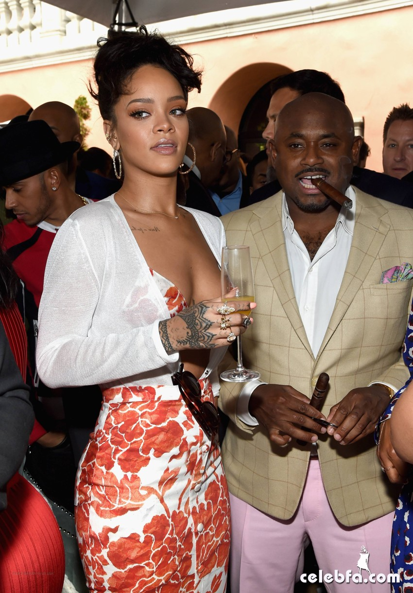 Rihanna at Roc Nation Pre-GRAMMY (6)