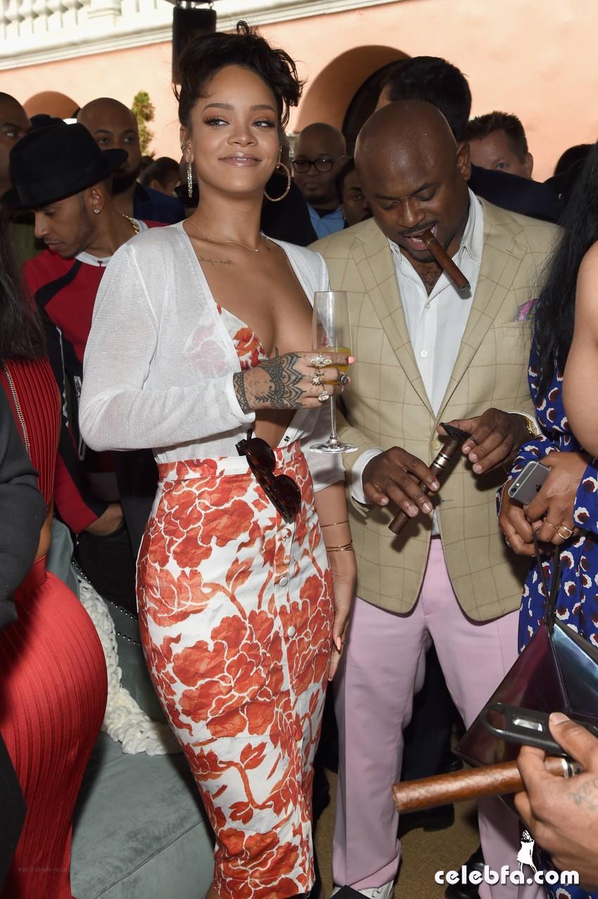 Rihanna at Roc Nation Pre-GRAMMY (7)