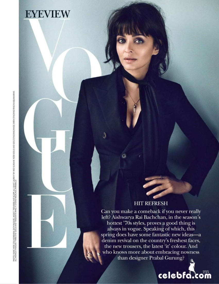 Aishwarya Rai Vogue India March 2015  (2)