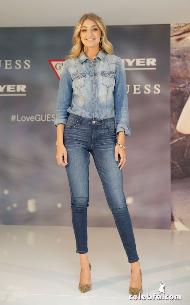 gigi-hadid-at-guess-spring-2015-collection-launch (6)