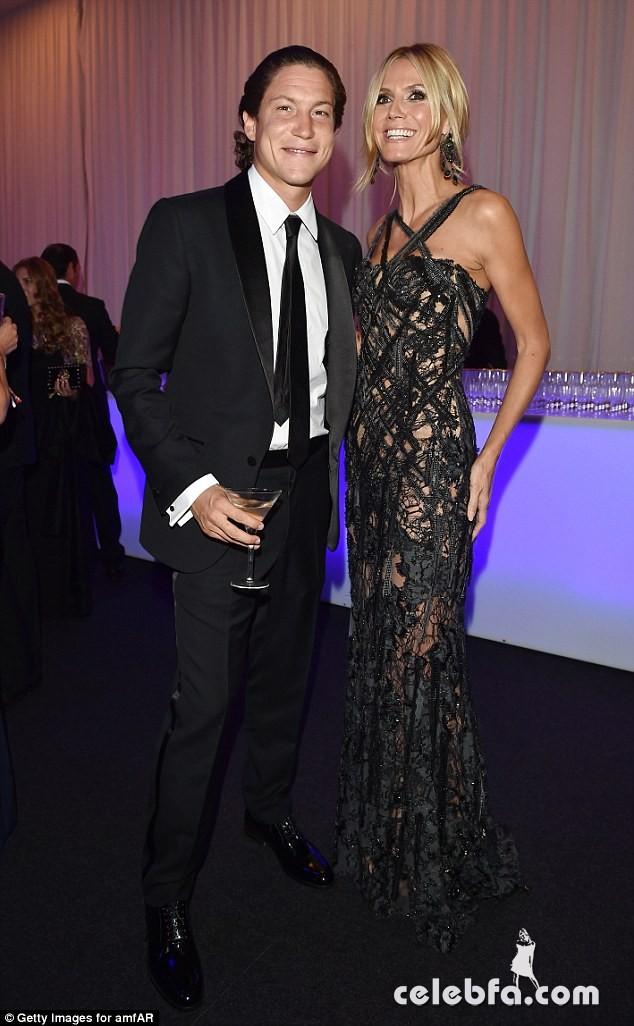 Heidi Klum & Vito Schnabel amfAR Milano Gala (1)