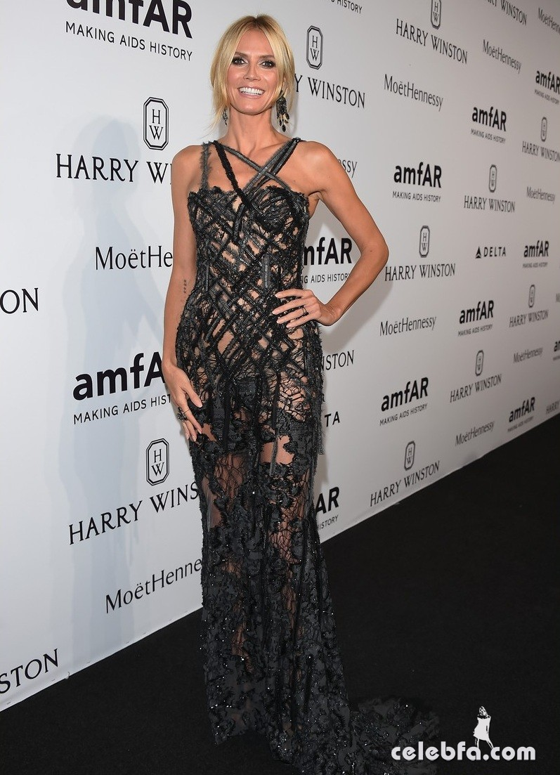 MILAN, ITALY - SEPTEMBER 26: Heidi Klum arrives at amfAR Milano 2015 at La Permanente on September 26, 2015 in Milan, Italy. (Photo by Venturelli/Getty Images for amfAR)