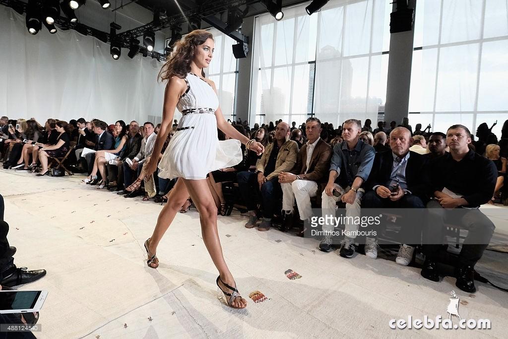attends Diane Von Furstenberg Spring 2016 fashion show during New York Fashion Week at Spring Studios on September 13, 2015 in New York City.