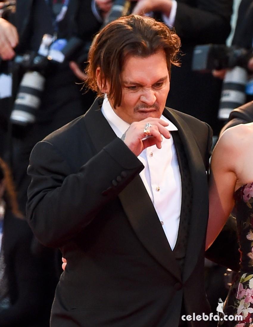Johnny Depp , Amber Heard, Eddie Redmayne, Hannah Bagshawe