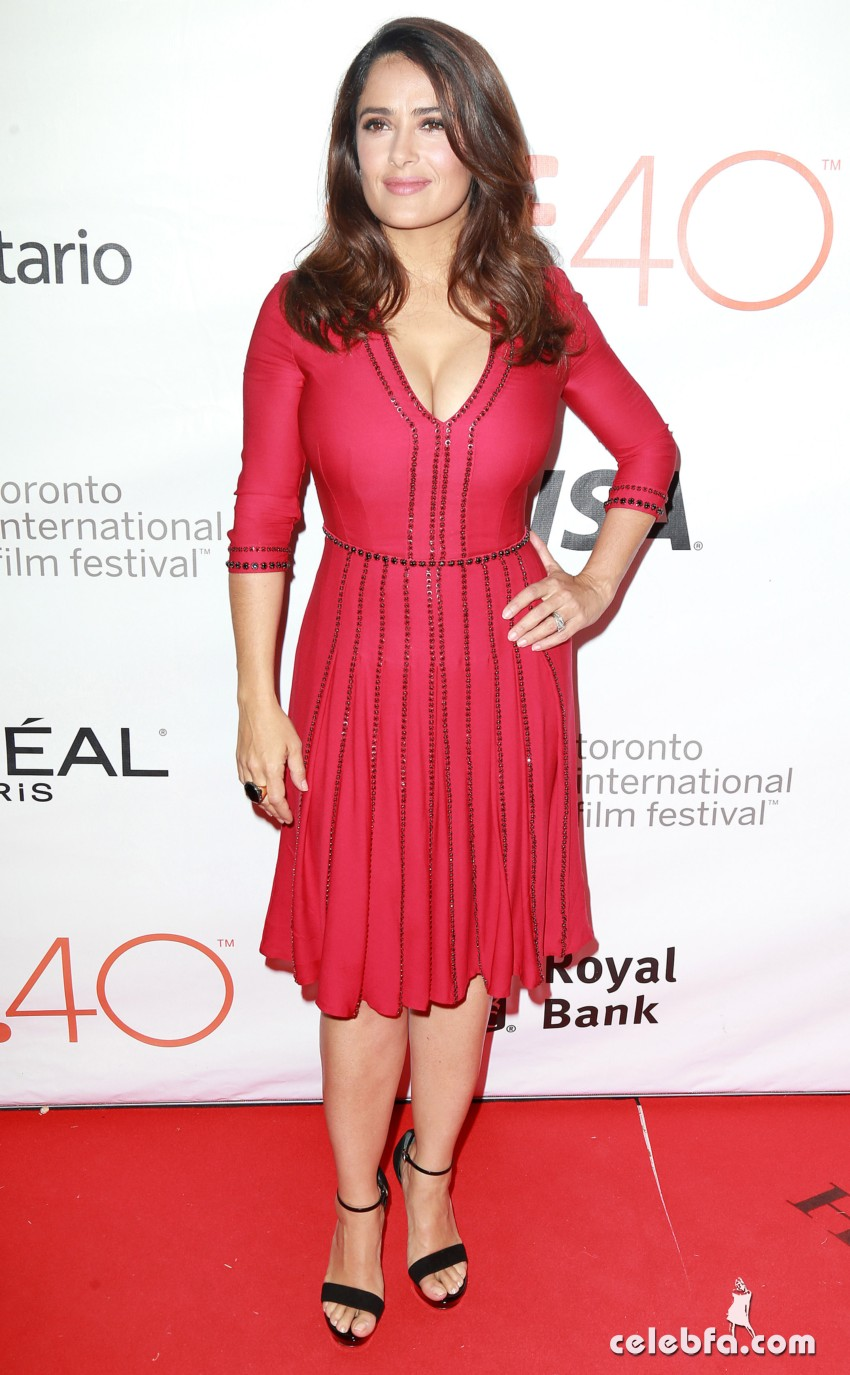 "Pictured: Salma Hayek Mandatory Credit © DDNY/Broadimage  ""September Of Shiraz"" TIFF Party At Byblos Toronto Hosted By Holliswealth 9/15/15, Toronto, Ontario, Canada Broadimage Newswire Los Angeles 1+  (310) 301-1027 New York      1+  (646) 827-9134 sales@broadimage.com http://www.broadimage.com"