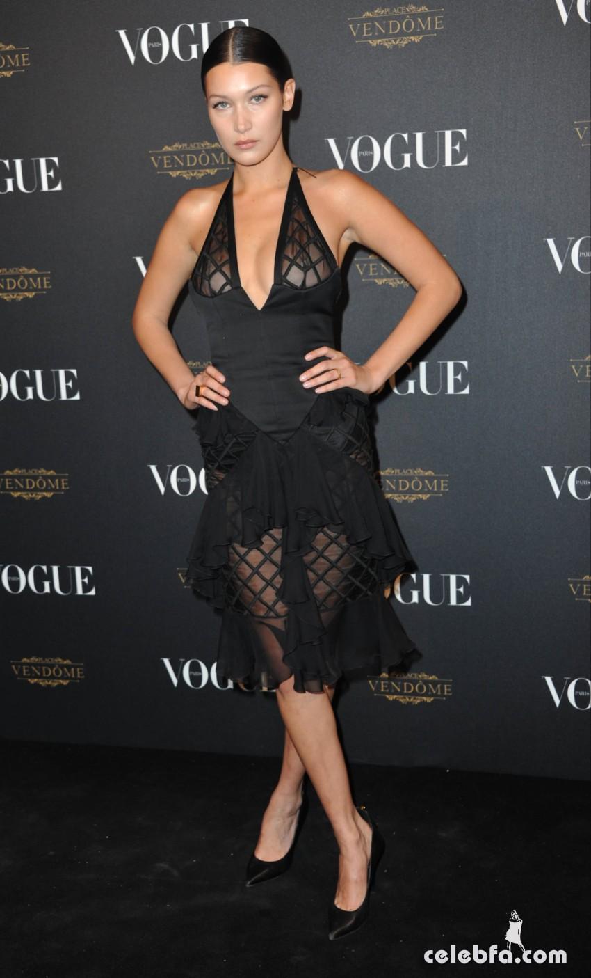 Bella Hadid - Vogue's 95th Anniversary Party in Paris (1)