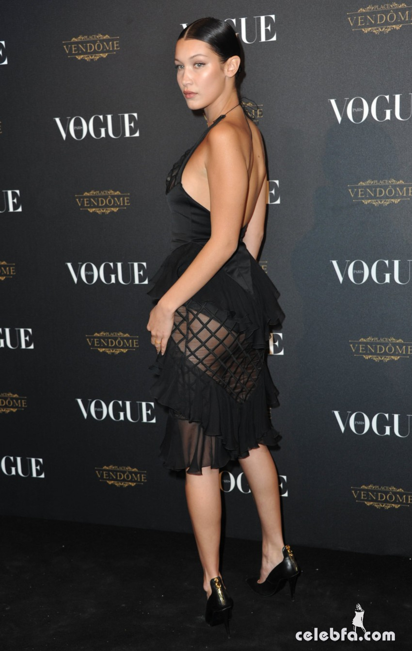Bella Hadid - Vogue's 95th Anniversary Party in Paris (2)