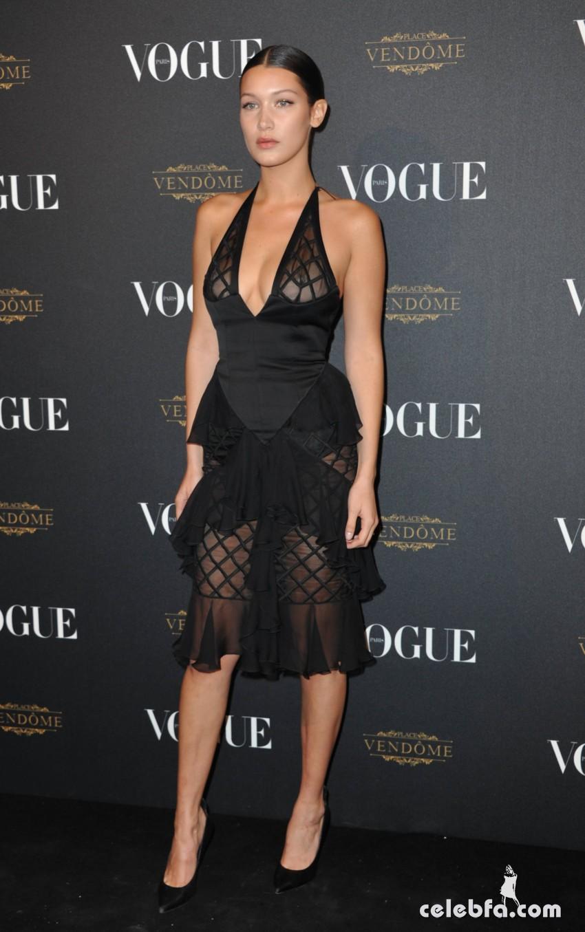 Bella Hadid - Vogue's 95th Anniversary Party in Paris (4)