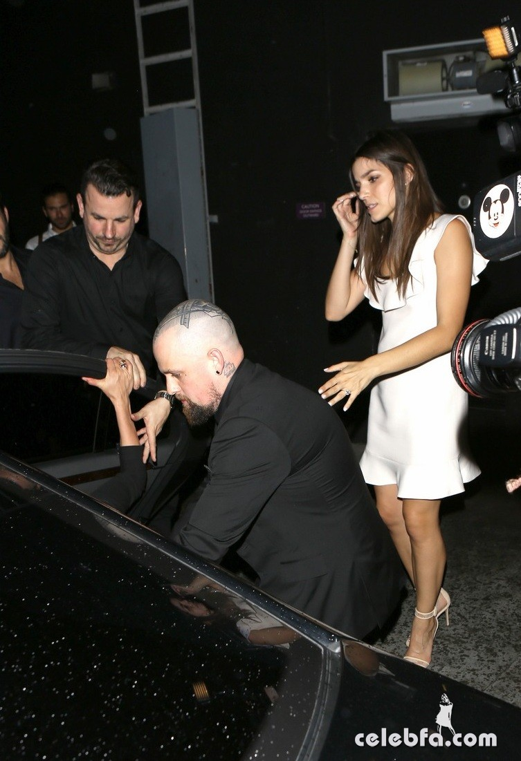 West Hollywood, CA - Husband and wife duo Cameron Diaz and Benji Madden enjoy a night out at The Nice Guy in West Hollywood.  Benji accompanied Cameron and helped her into the vehicle.  Cameron accidentally missed the curb and almost tripped, while husband Benji reached out to catch her just in time.      AKM-GSI      October 3, 2015 To License These Photos, Please Contact : Steve Ginsburg (310) 505-8447 (323) 423-9397 steve@akmgsi.com sales@akmgsi.com or Maria Buda (917) 242-1505 mbuda@akmgsi.com ginsburgspalyinc@gmail.com