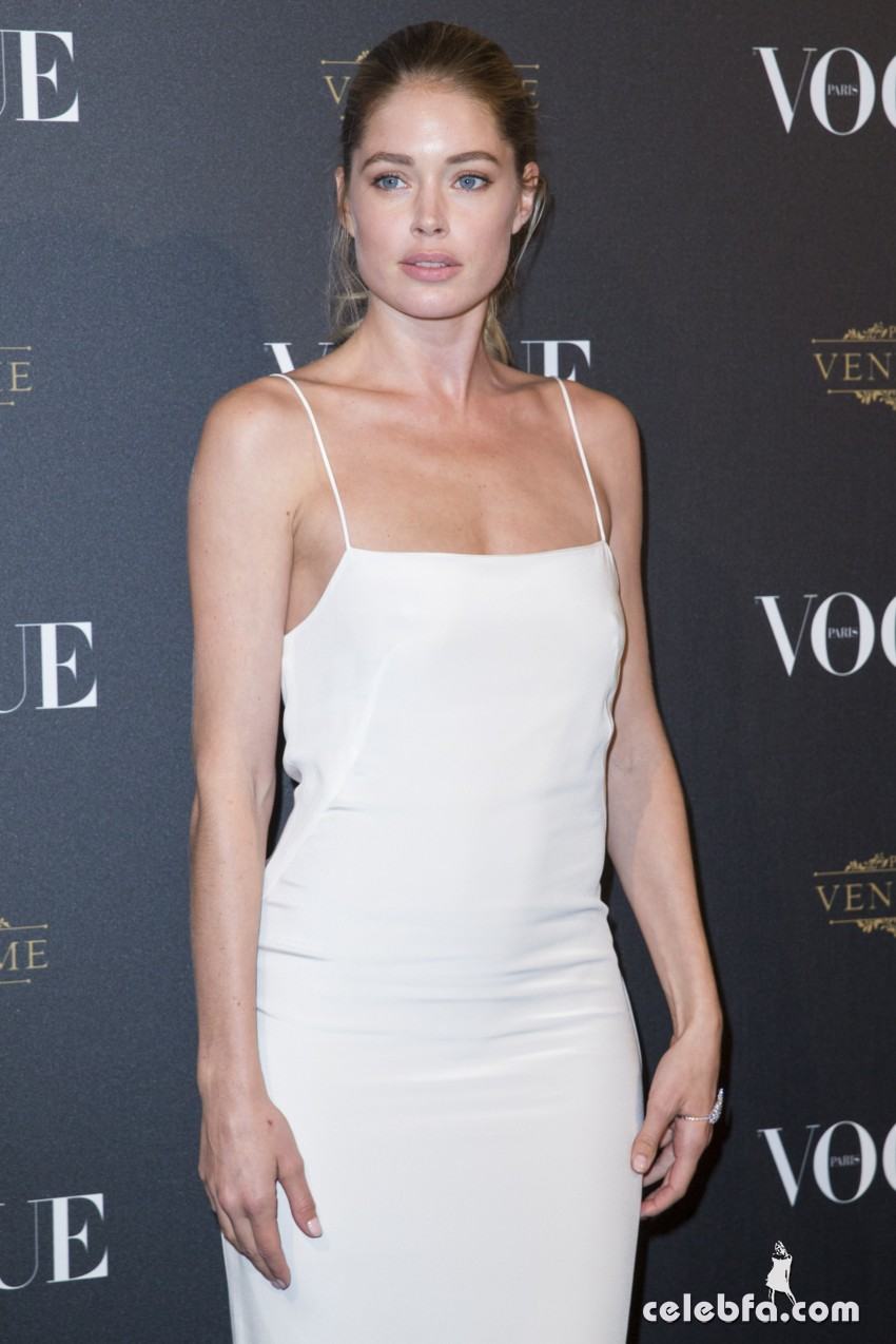 Celebrities attend Vogue's 95th anniversary party in Paris during Fashion Week, 3 October 2015. Kendall Jenner, Hailey Baldwin, Elena Perminova, Constance Jablonski, Izabel Goulart, Gig Hadid,  Doutzen Kroes, Francisco Costa, Natasha Poly, Lily Donaldson 4 October 2015. Please byline: Vantagenews.com