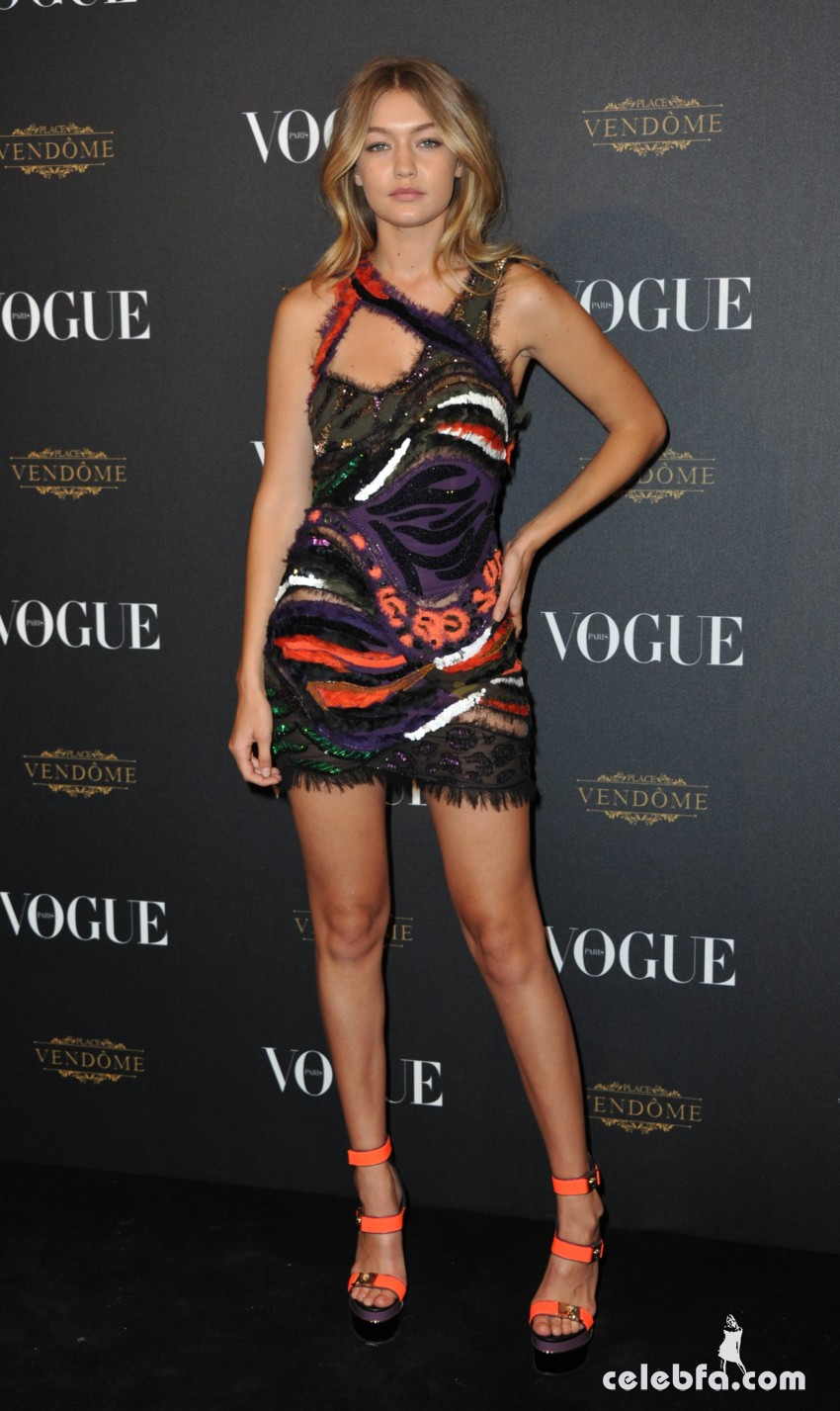 Gigi Hadid - Vogue's 95th Anniversary Party (3)