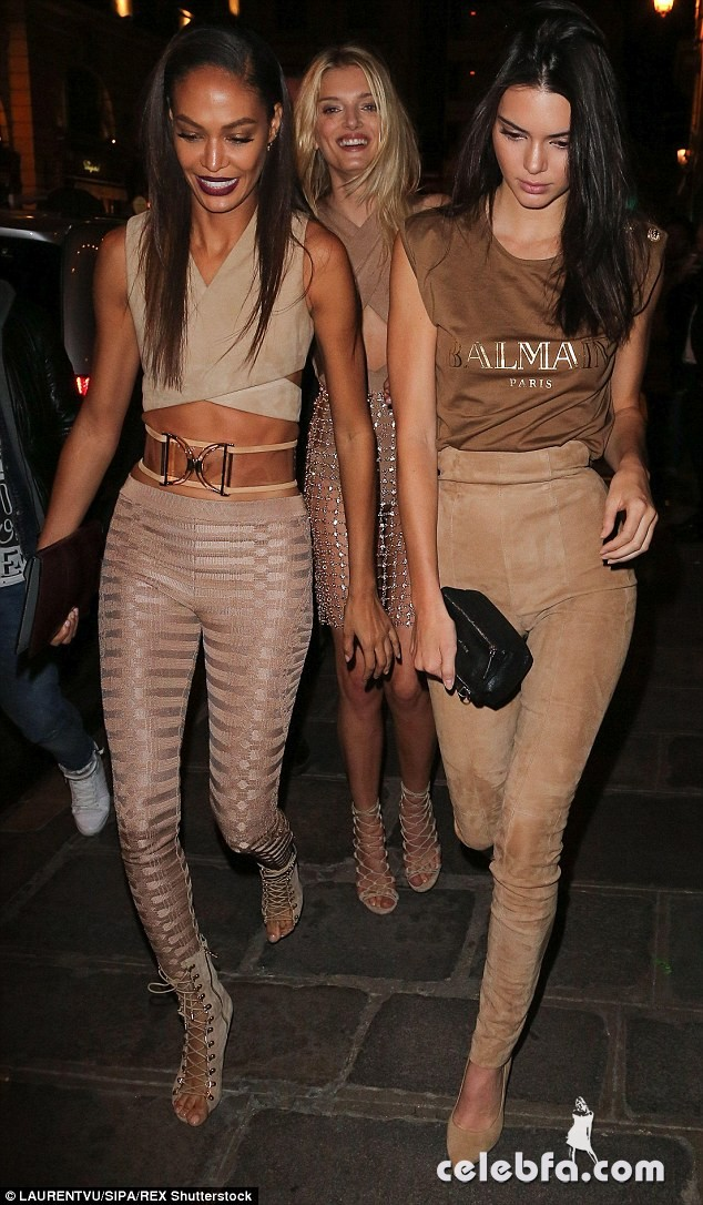 kendall-jenner-at-balmain-fashion-show-after-party-in-paris (10)