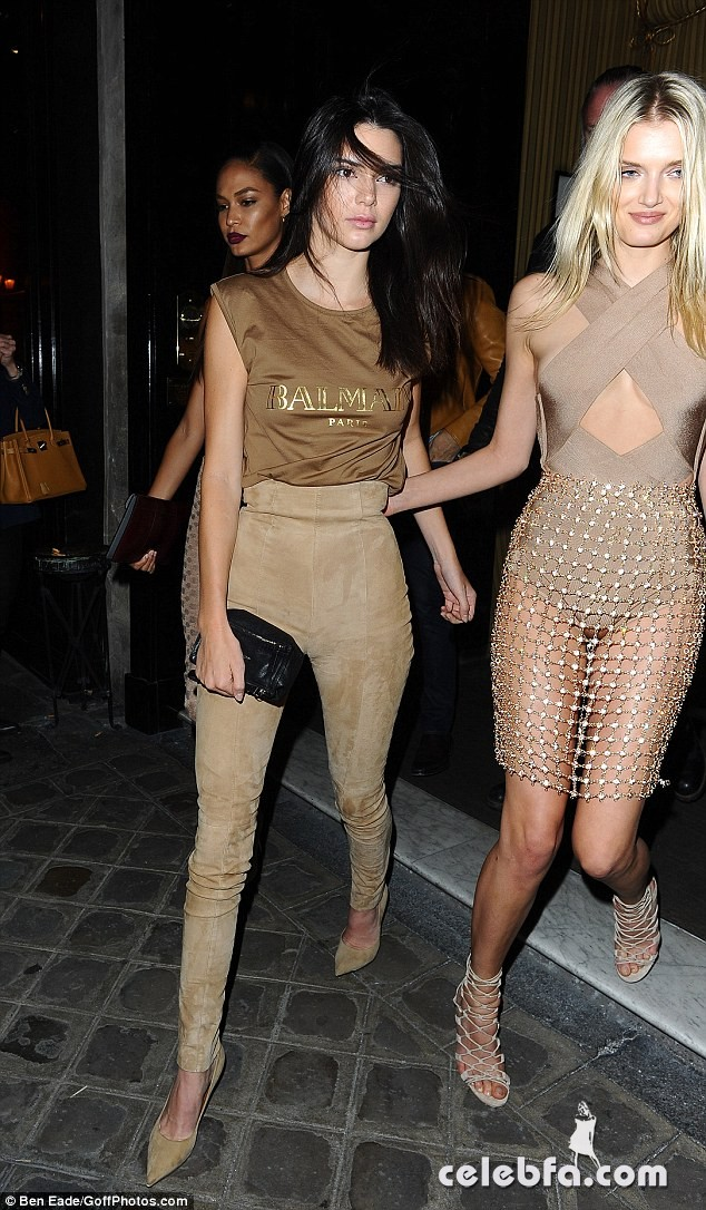 kendall-jenner-at-balmain-fashion-show-after-party-in-paris (13)